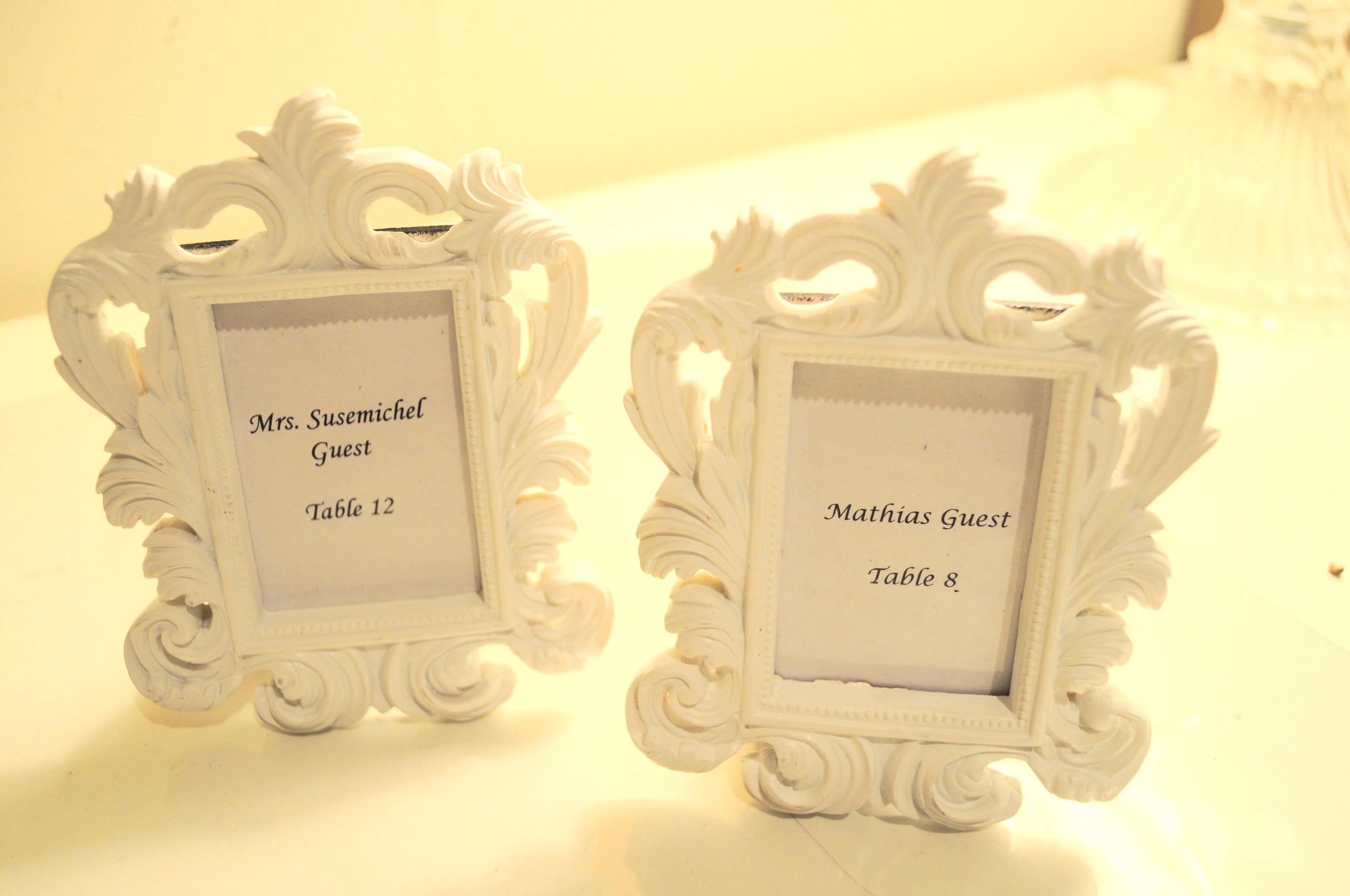 mini white baroque picture frames - Mini Frames